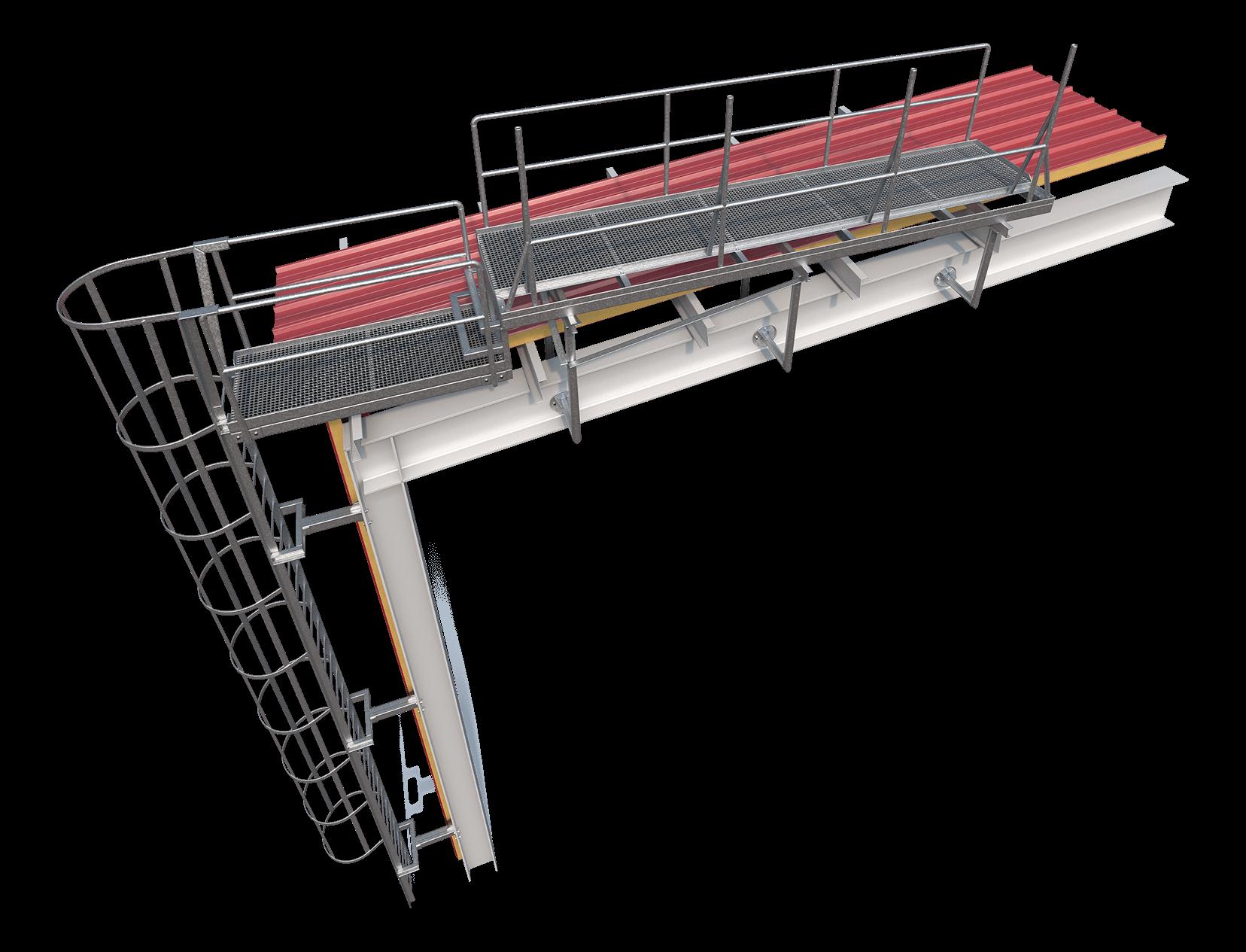 Rebrík a plošina satelitov