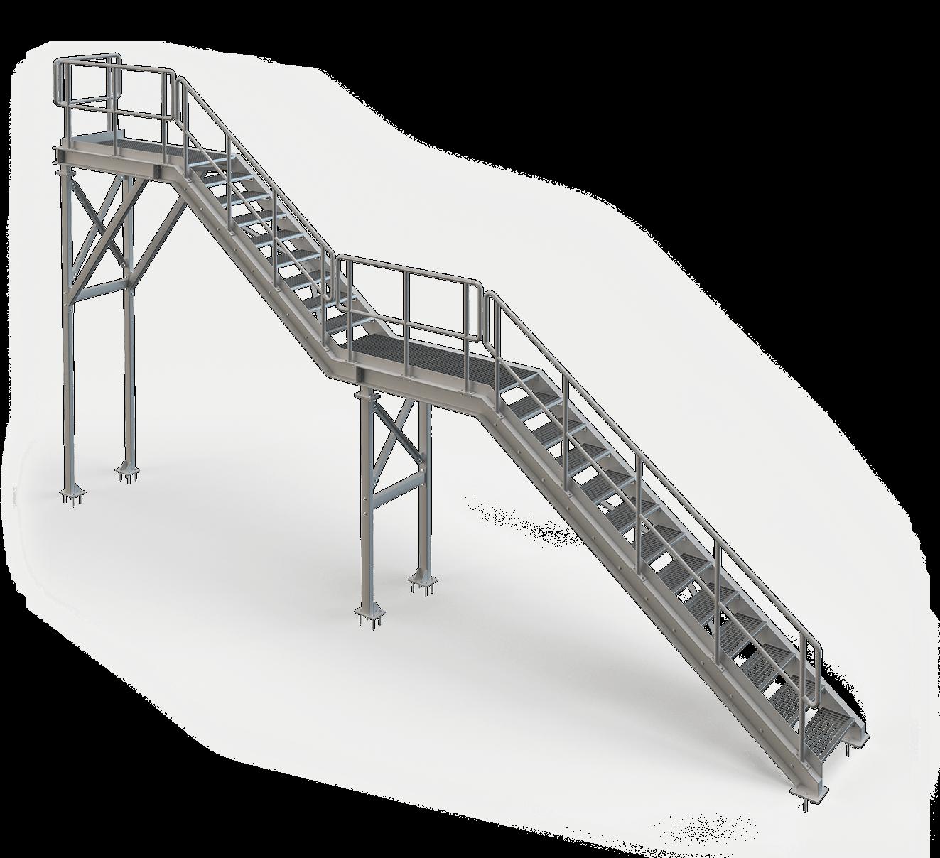 Samonosné schodisko do výrobnej haly