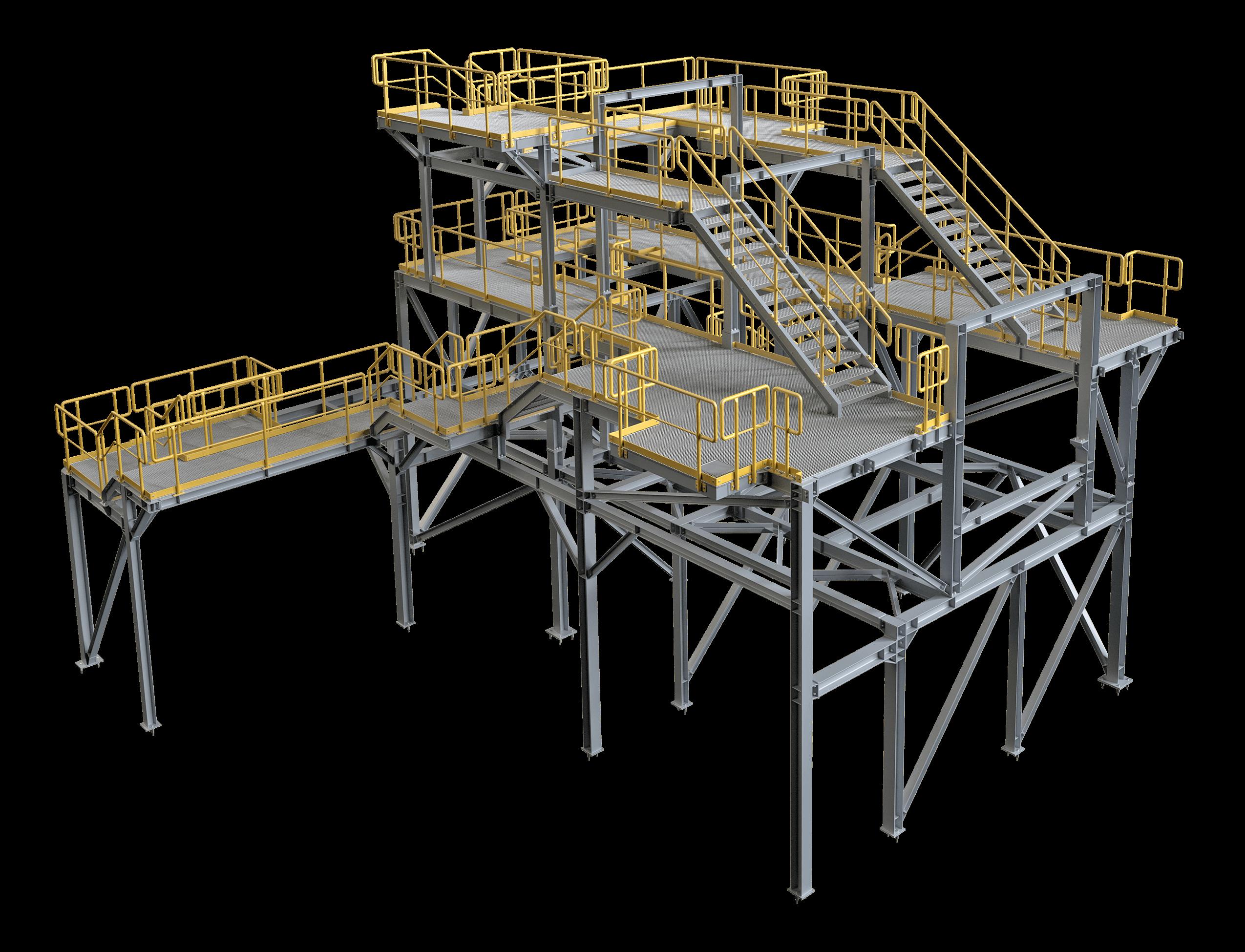 Komplexy viacúrovňových plošín
